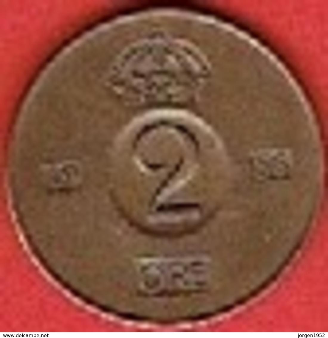 SWEDEN  #  2 ØRE FROM 1956 - Suède