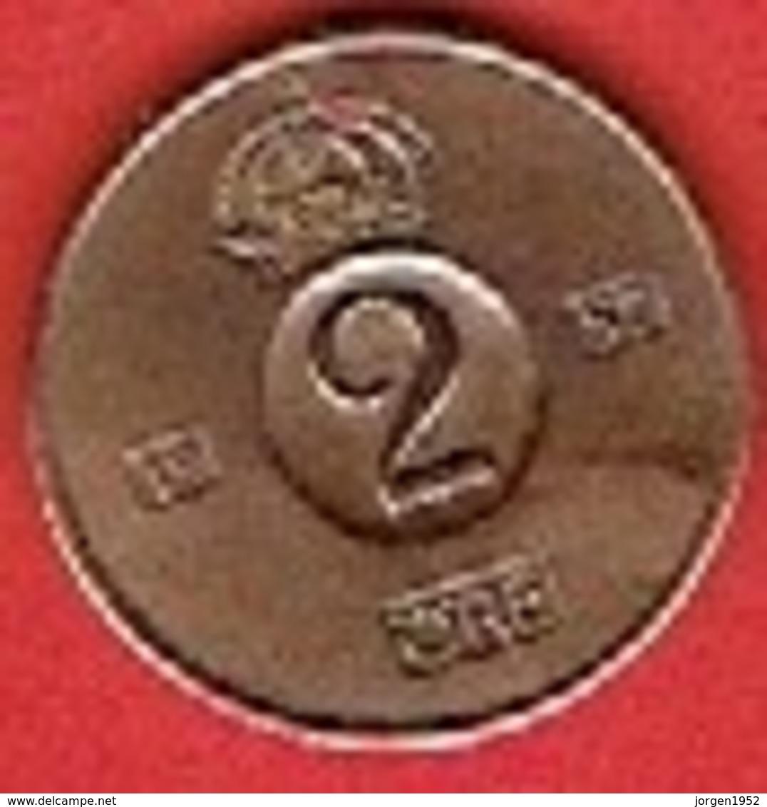 SWEDEN  #  2 ØRE FROM 1957 - Suède