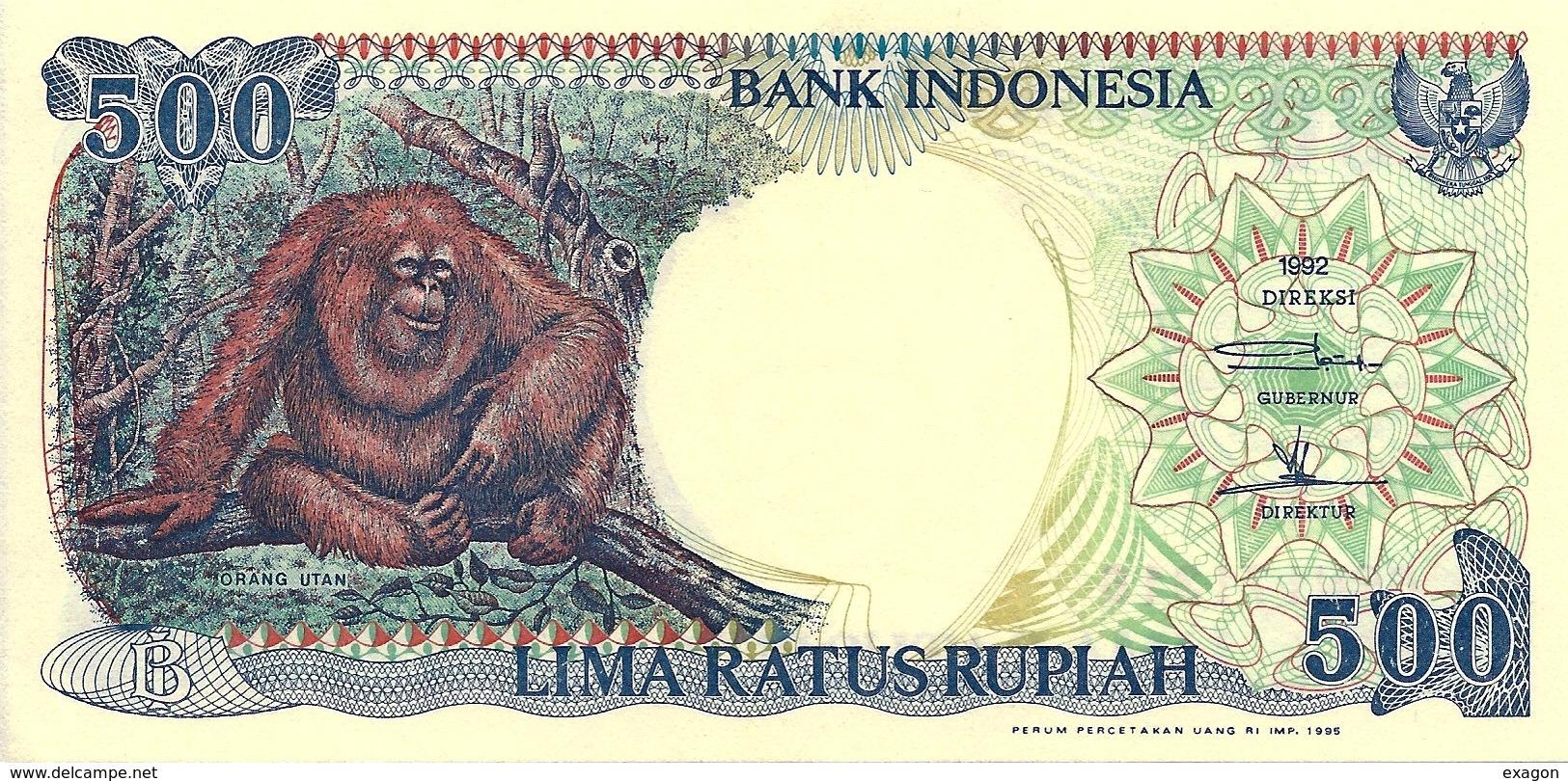 500  RUPIAH - INDONESIA - Anno: 1992 - Indonésie