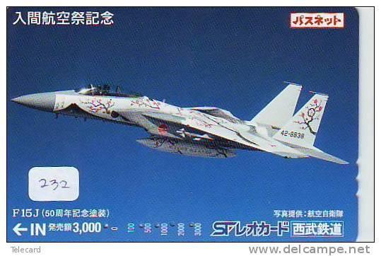 Télécarte Japon AVION Militaire (232) Armee Army AIRFORCE MILITARY Flugzeug Vliegtuig Aeroplani Airplane Aeroplanos - Avions