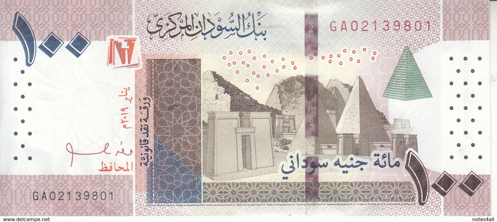SUDAN 100 POUNDS 2019 P-NEW LOT X5 AU/UNC NOTES  */* - Sudan