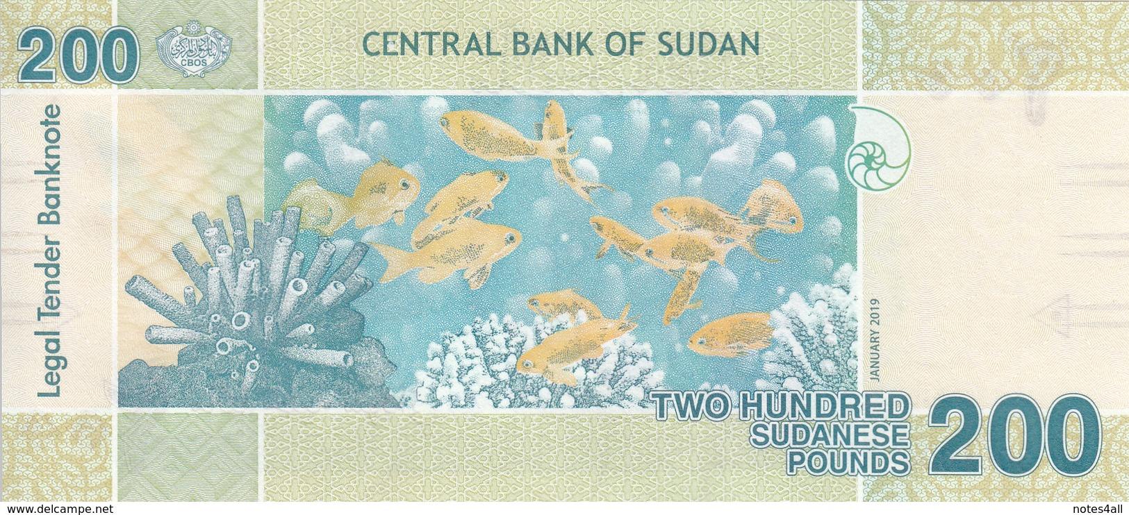 SUDAN 200 POUNDS 2019 P-NEW UNC */* - Soedan