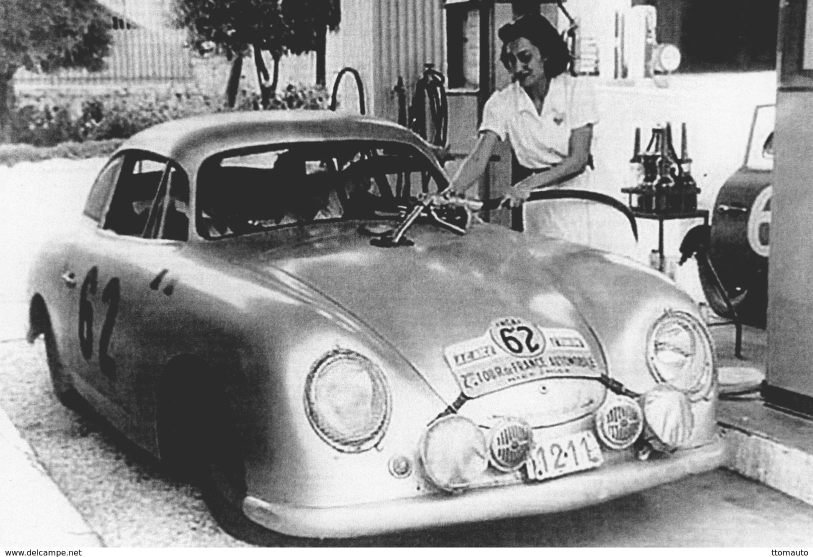 Porsche 356 Coupe  -  Rallye Tour De France Auto 1952  - Pilotes: Gilbert Thirion/Ingeborg Polensky  -  CPM - Rallyes