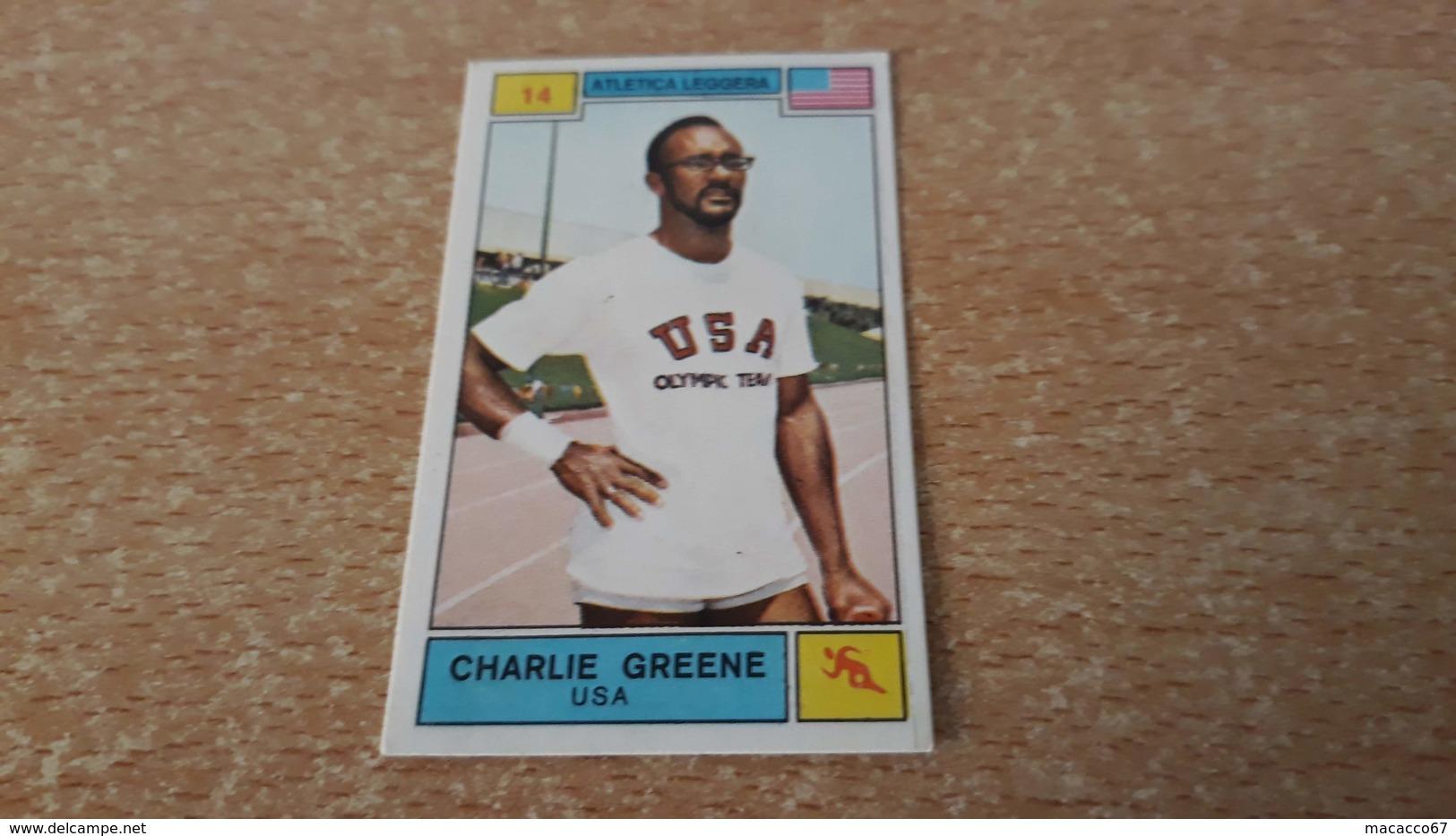Figurina Panini Campioni Dello Sport 1969 - Charlie Greene - Panini