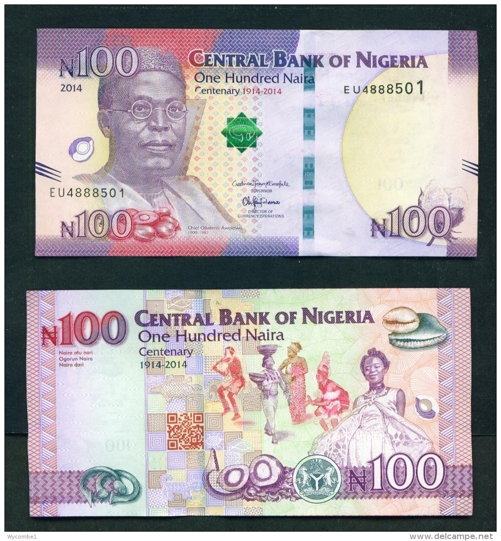 NIGERIA  -  2014  100 Naira  UNC Banknote - Nigeria