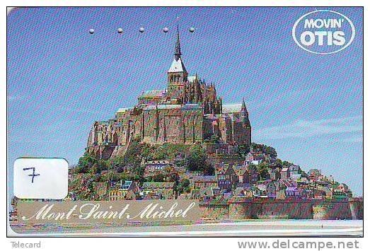 Télécarte Japonaise FRANCE Related (7) MONT-SAINT-MICHEL - Paysages