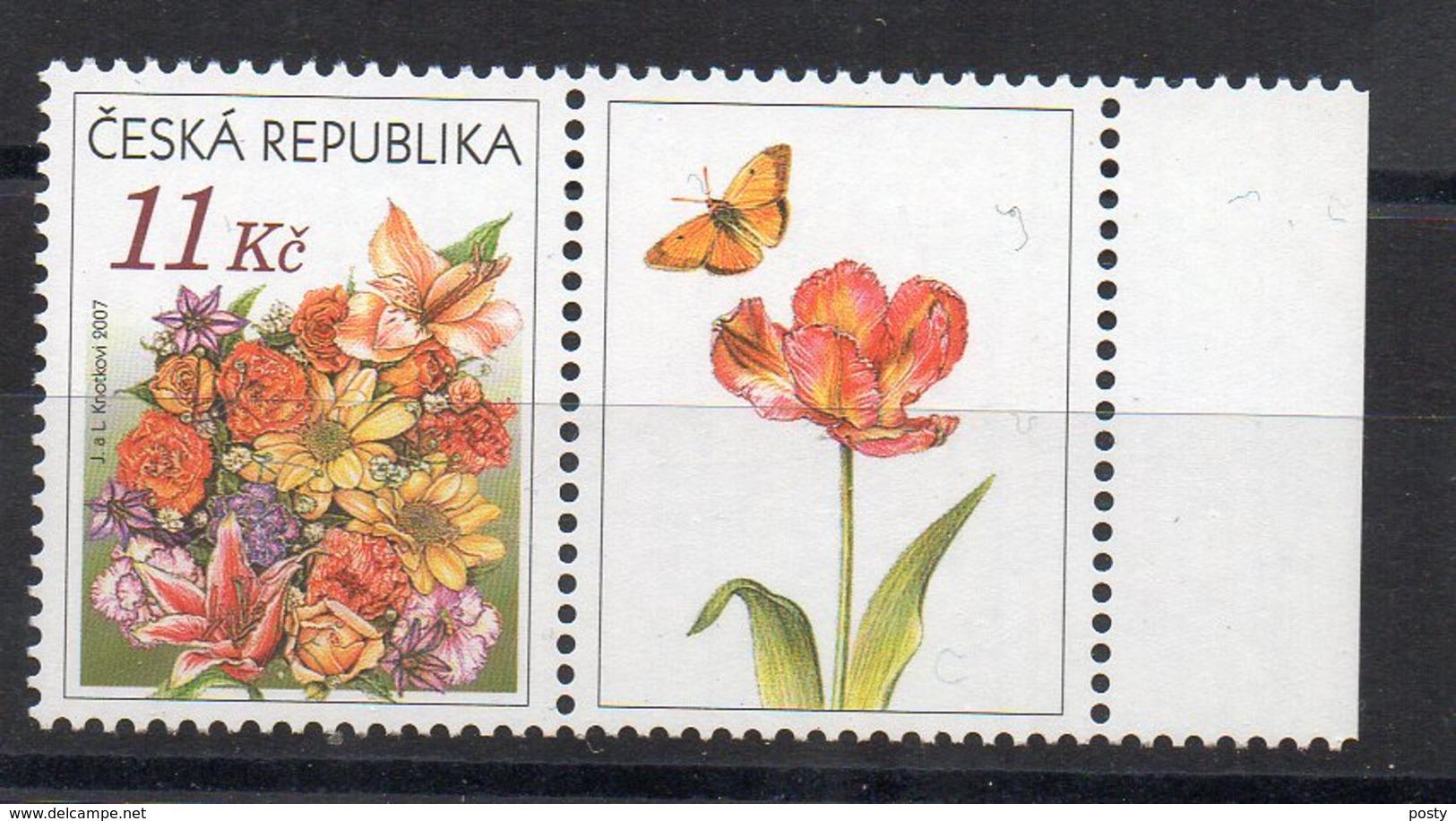 TCHEQUIE - CESKA REPUBLIKA - FLEURS - FLOWERS - BLUMEN - 2007 - - Neufs