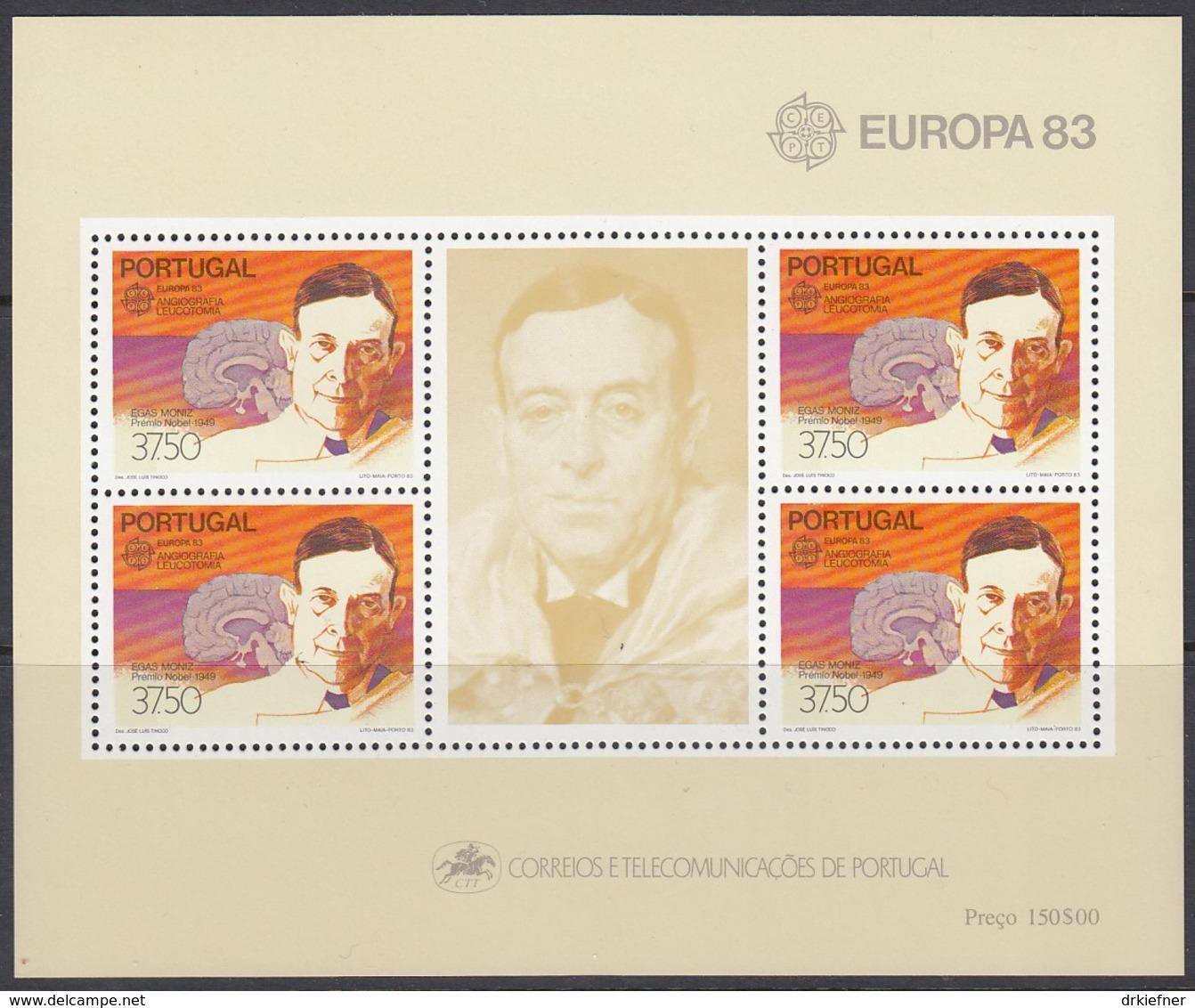 PORTUGAL Block 40, Postfrisch **, Europa CEPT:  Große Werke Des Menschlichen Geistes 1983 - 1983