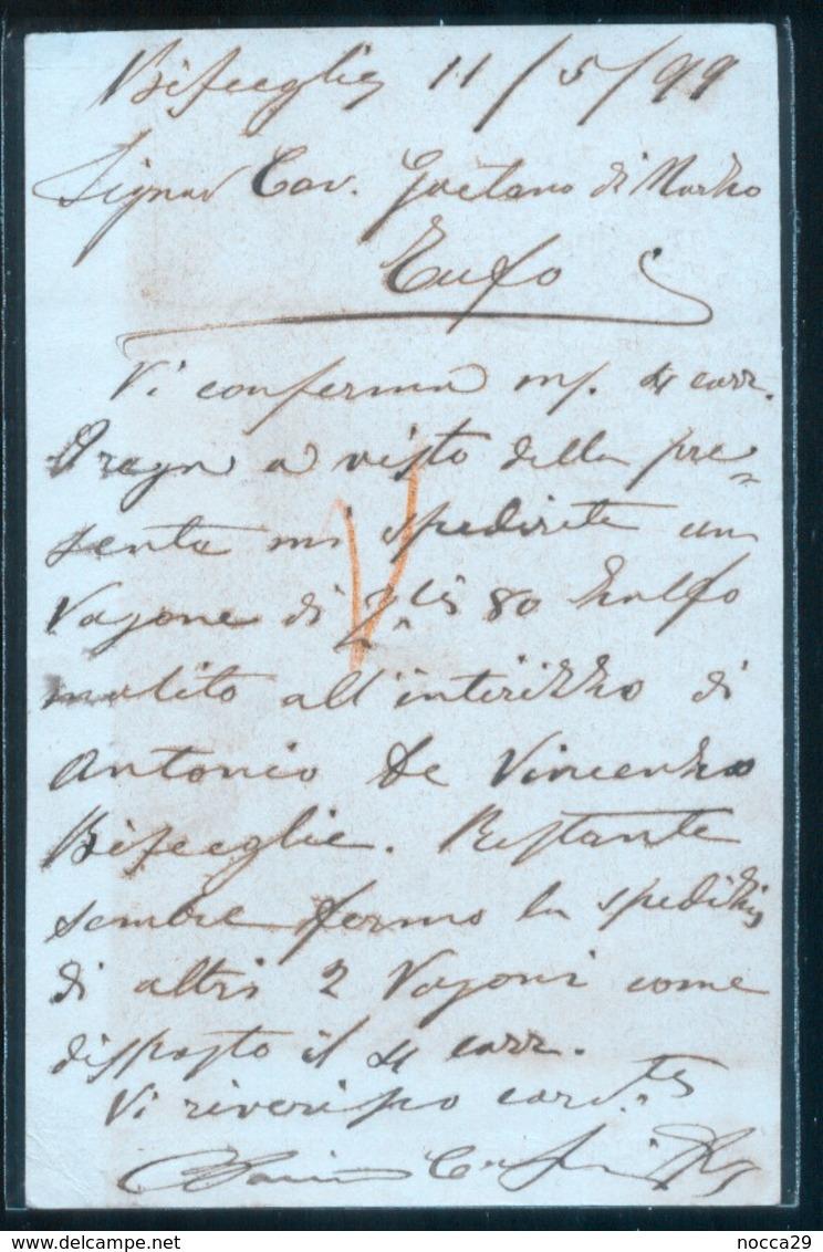 BISCEGLIE - 1899 - CARTOLINA COMMERCIALE - COSMAI - Negozi