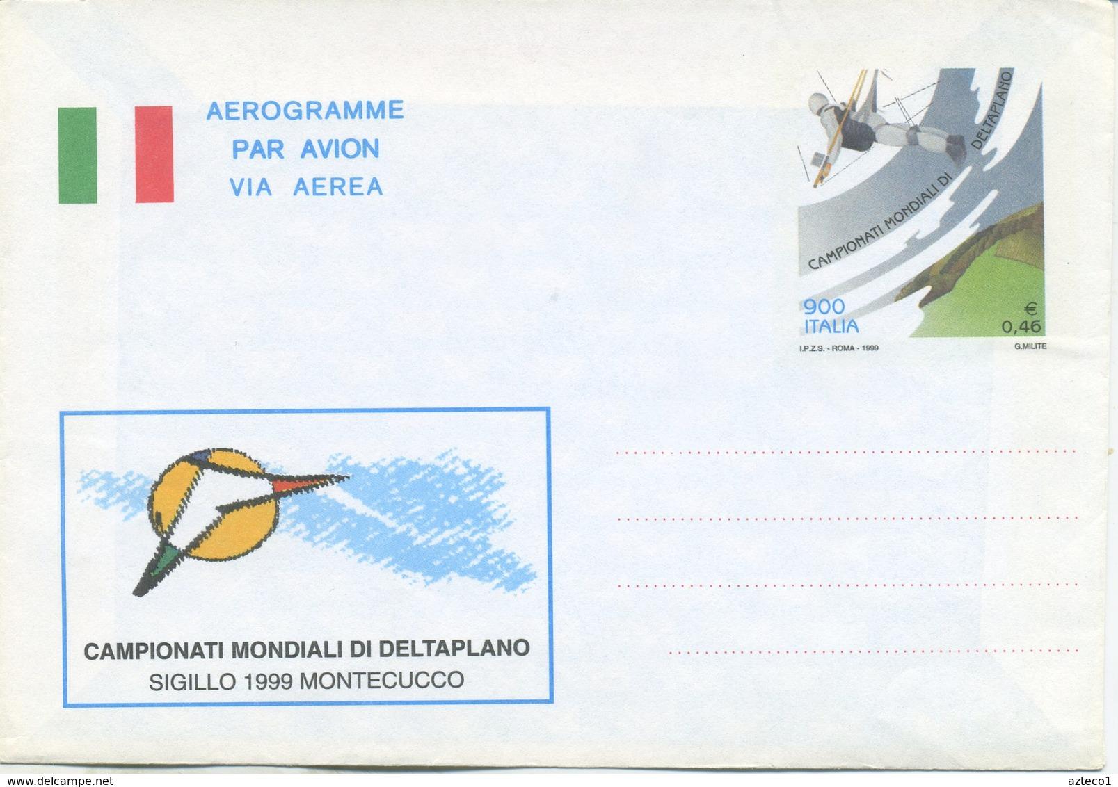 ITALIA - AEROGRAMMA 1999 - MONDIALI DELTAPLANO - 6. 1946-.. Repubblica