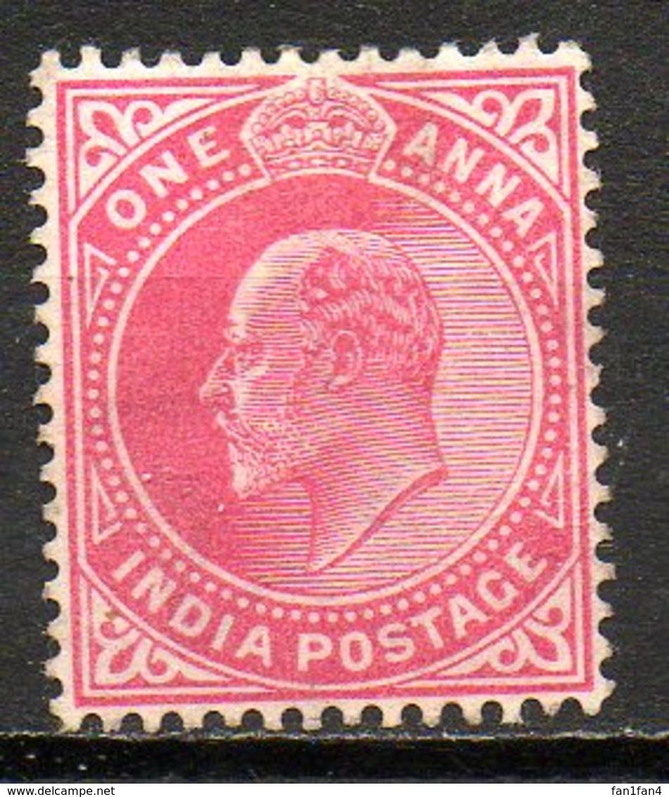 GRANDE-BRETAGNE - (Compagnie Des Indes) - 1906 - N° 75 - 1 A. Rouge Carminé - (Edouard VII) - Inde (...-1947)