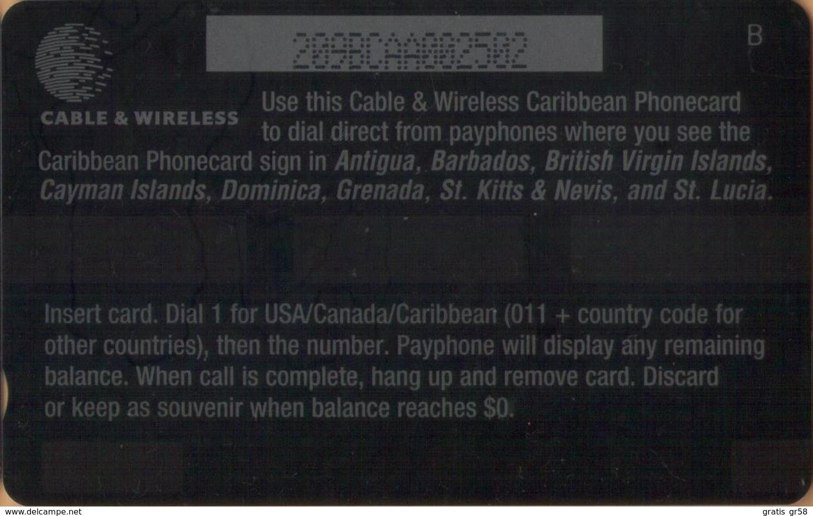 Caribbean Is. - GPT, C&W, General Caribbean, 209BCAA, Lizard, 2,476ex, 1998, VF Used - Altri – America