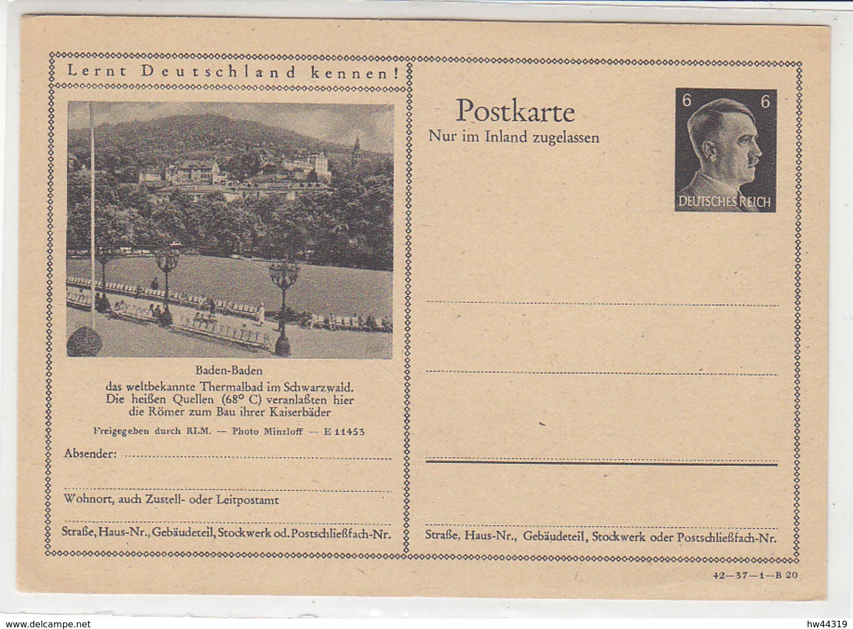 Hitler GS Motiv Baden-Baden * - Briefe U. Dokumente