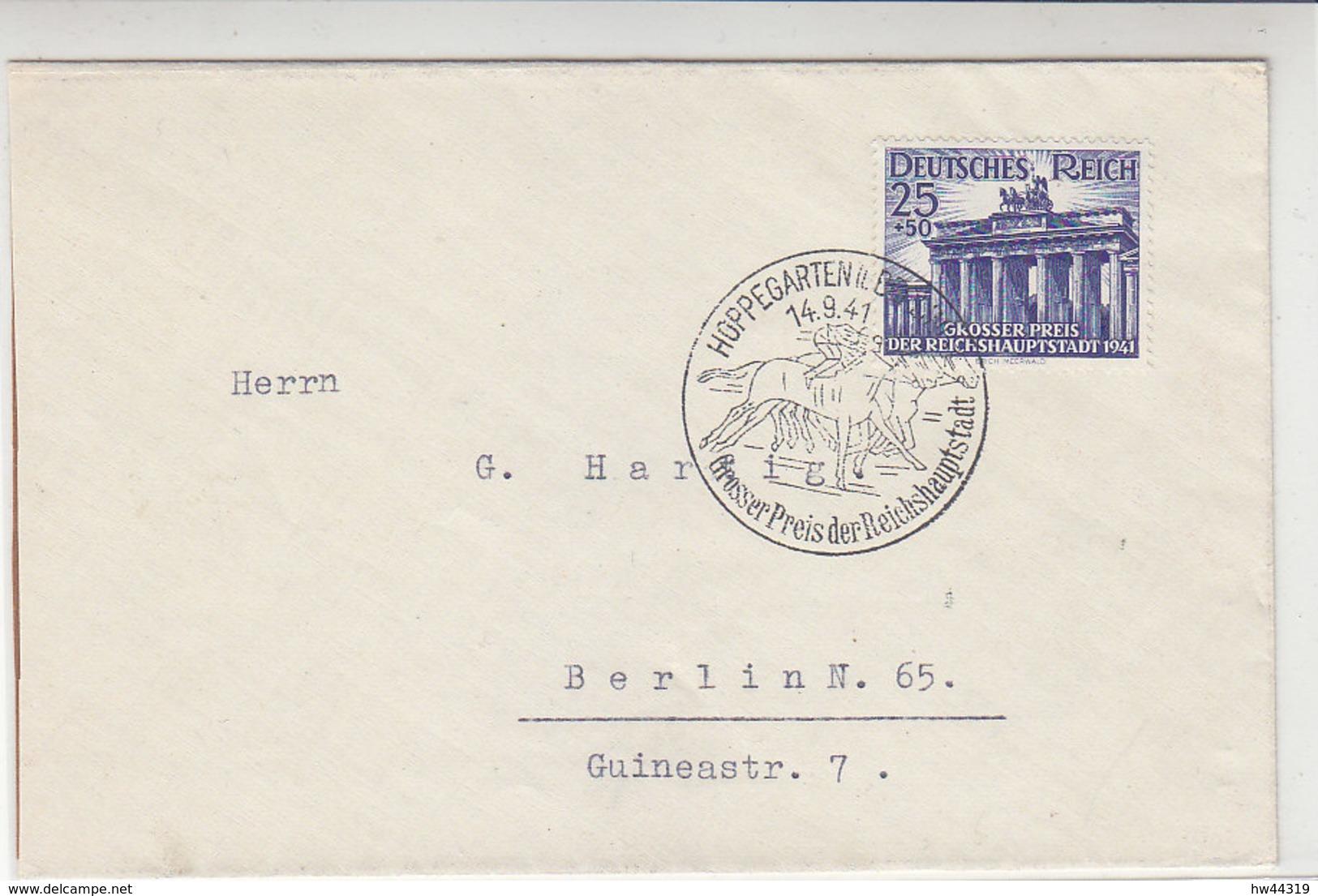 Brief Mit 803 Mit Passendem SST Aus HOPPEGARTEN 14.9.41 - Briefe U. Dokumente