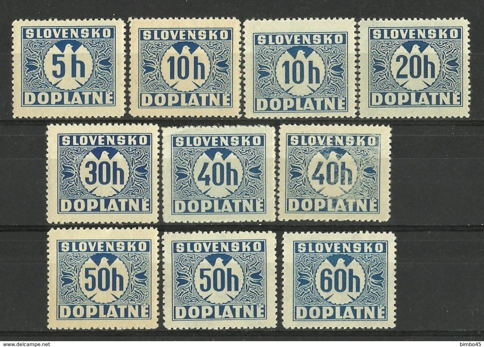 LOT SLOVAKIA PORTO -- 1939 / 1943 MNH - Ongebruikt