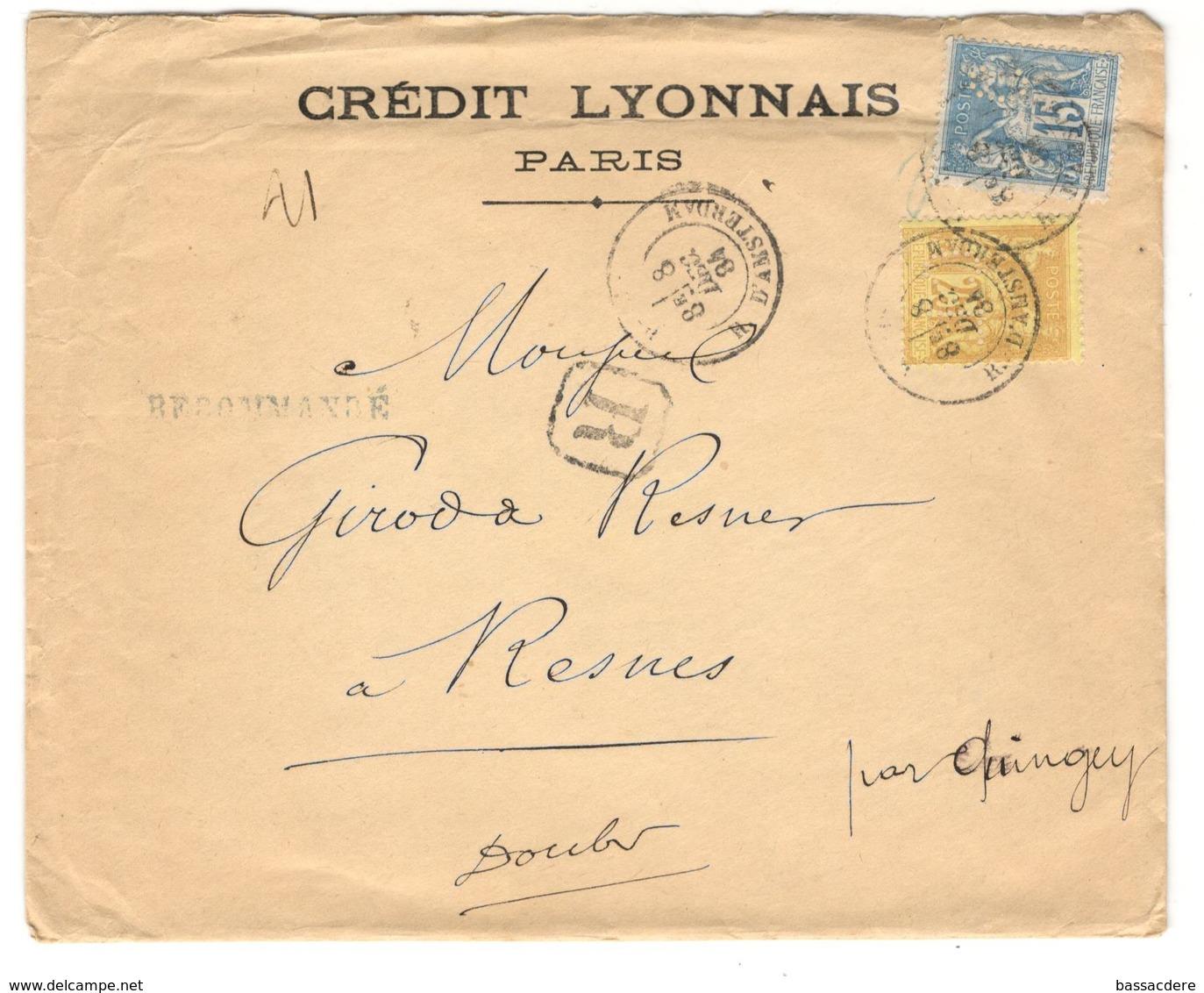 13914 - Perforé  CL - Marcophilie (Lettres)