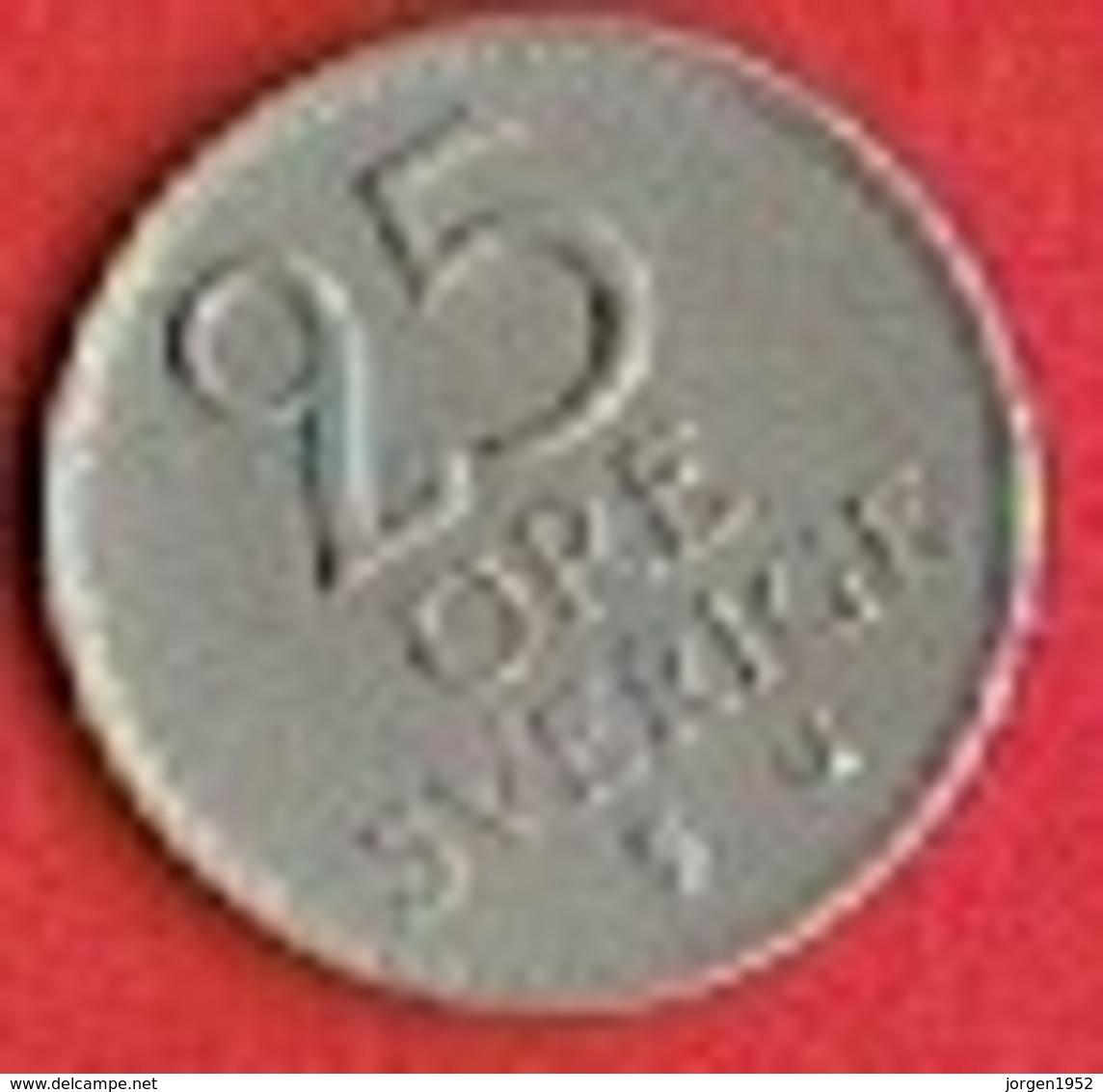 SWEDEN #  25 ØRE FROM 1962 - Suède