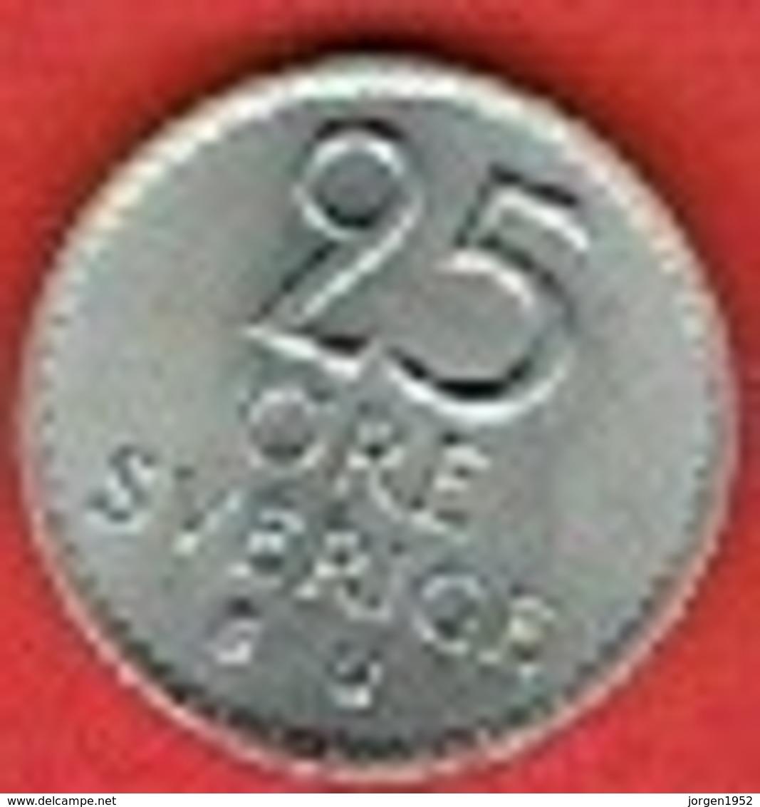 SWEDEN #  25 ØRE FROM 1968 - Suède