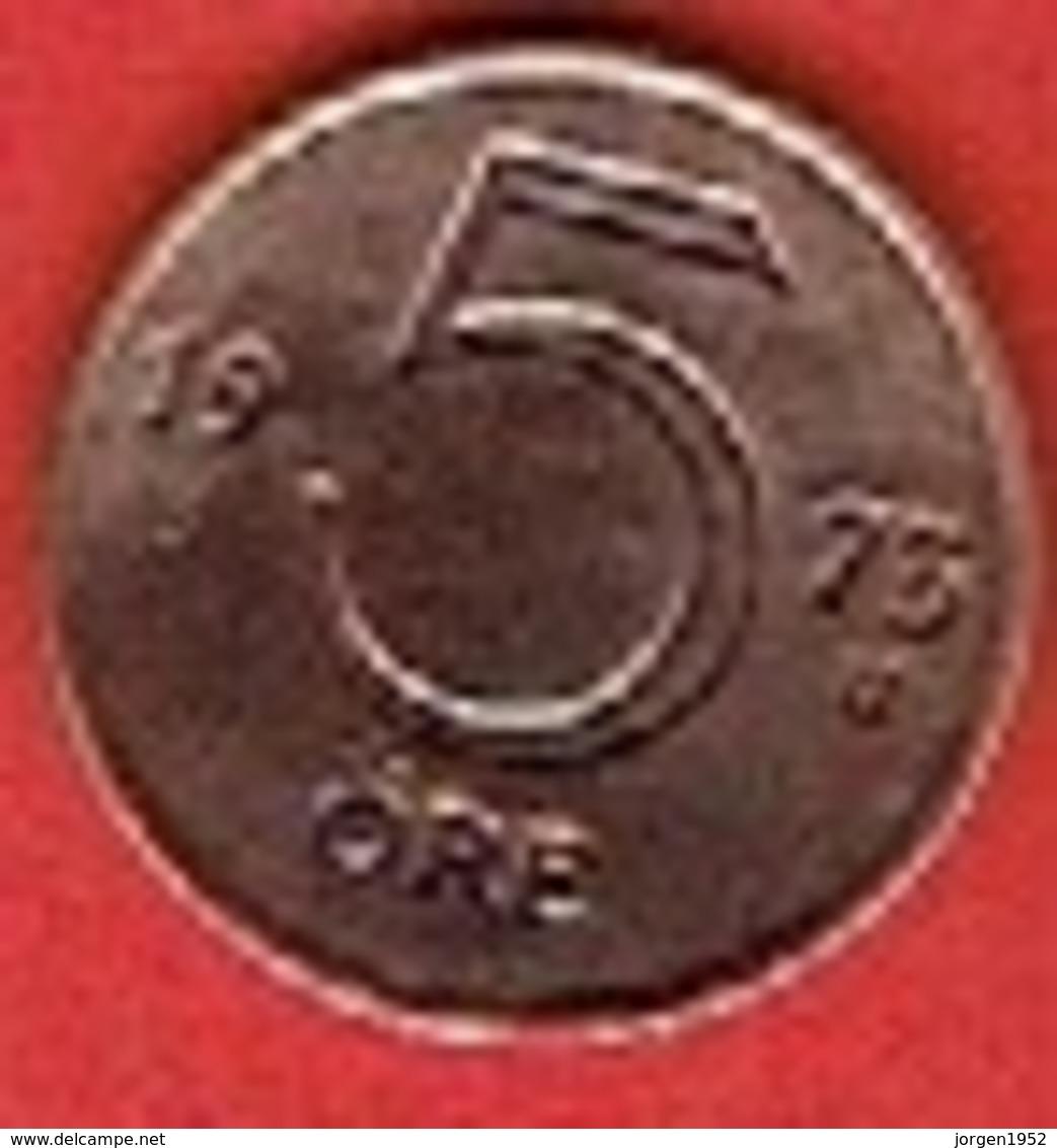 SWEDEN #  5 ØRE FROM 1973 - Suède