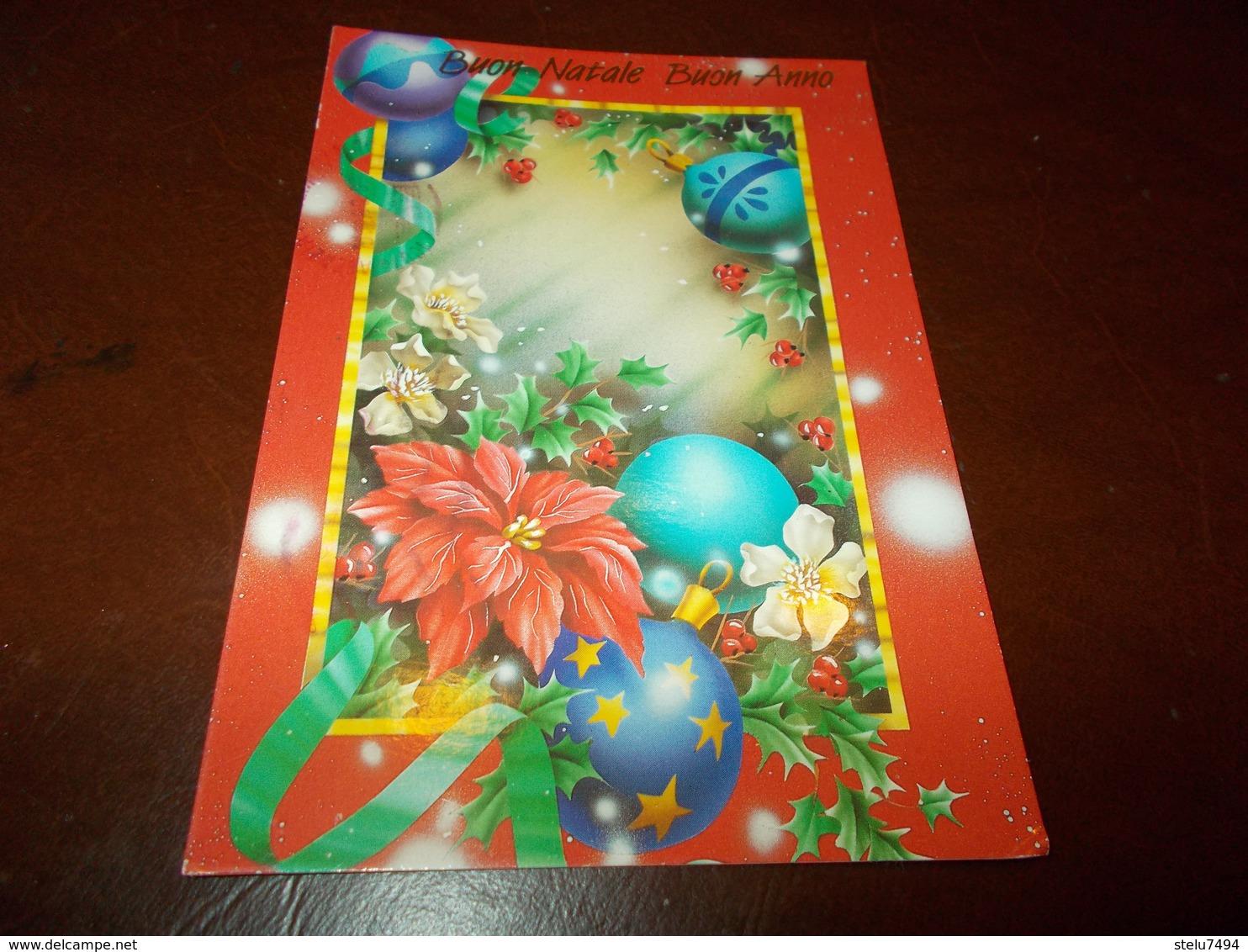B714  Buon Natale Viaggiata Pieghina Angolo - Non Classificati