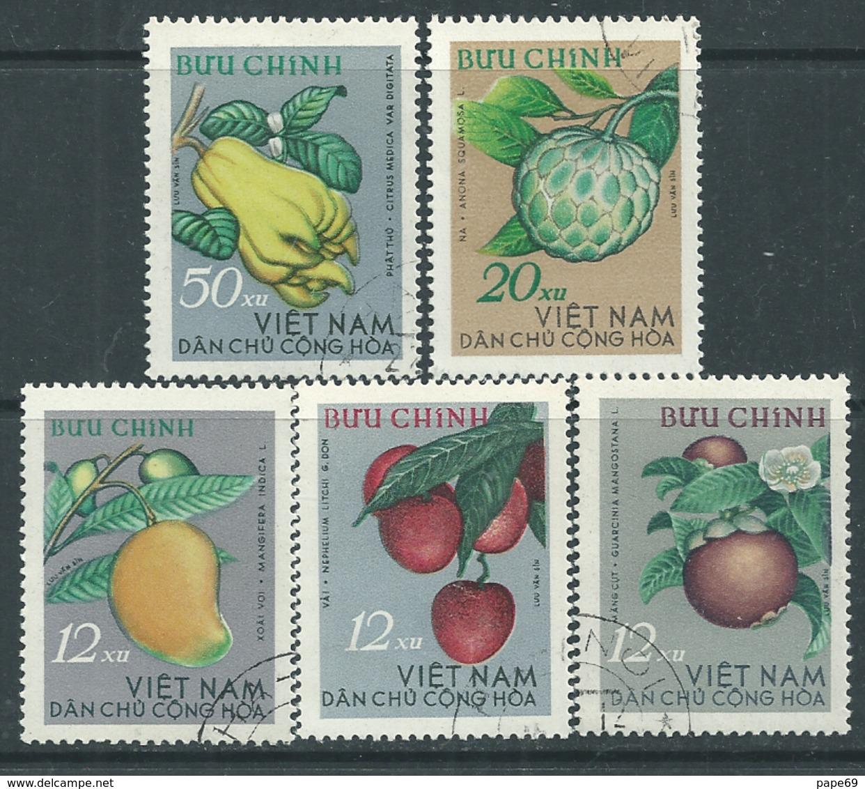 Viêt-Nam Du Nord N° 392 / 96 XX : Fruits Divers Les 5 Valeurs Sans Charnière, TB - Viêt-Nam