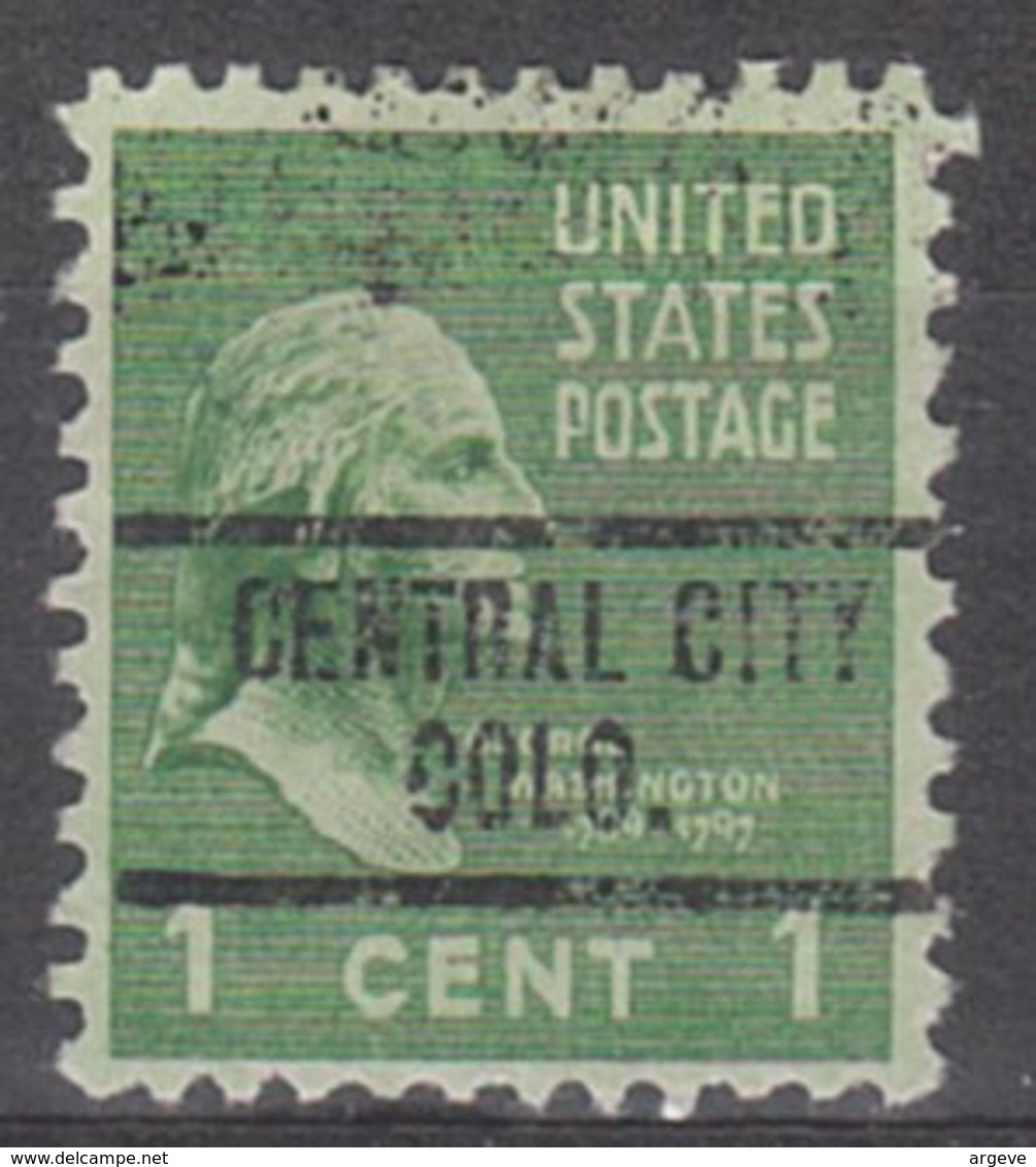 USA Precancel Vorausentwertung Preo, Locals Colorado, Central City 734 - Vereinigte Staaten
