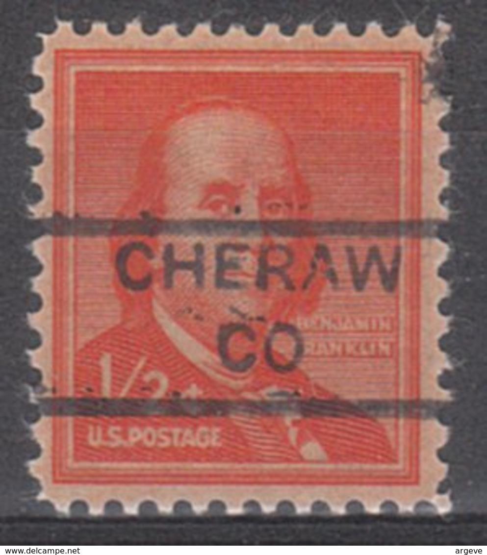USA Precancel Vorausentwertung Preo, Locals Colorado, Cheraw 852 - Vereinigte Staaten