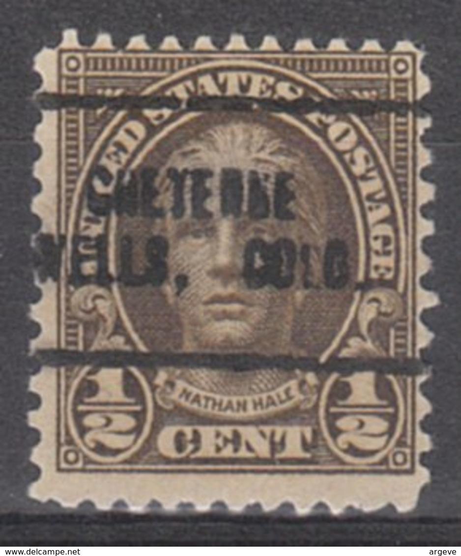 USA Precancel Vorausentwertung Preo, Locals Colorado, Cheyenne Wells 653-705 - Vereinigte Staaten