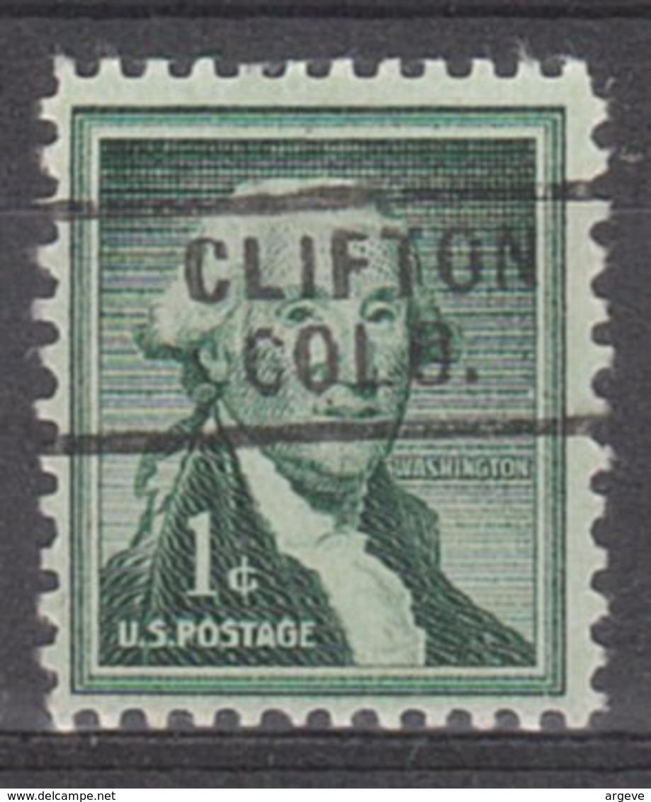 USA Precancel Vorausentwertung Preo, Locals Colorado, Clifton 729 - Vereinigte Staaten