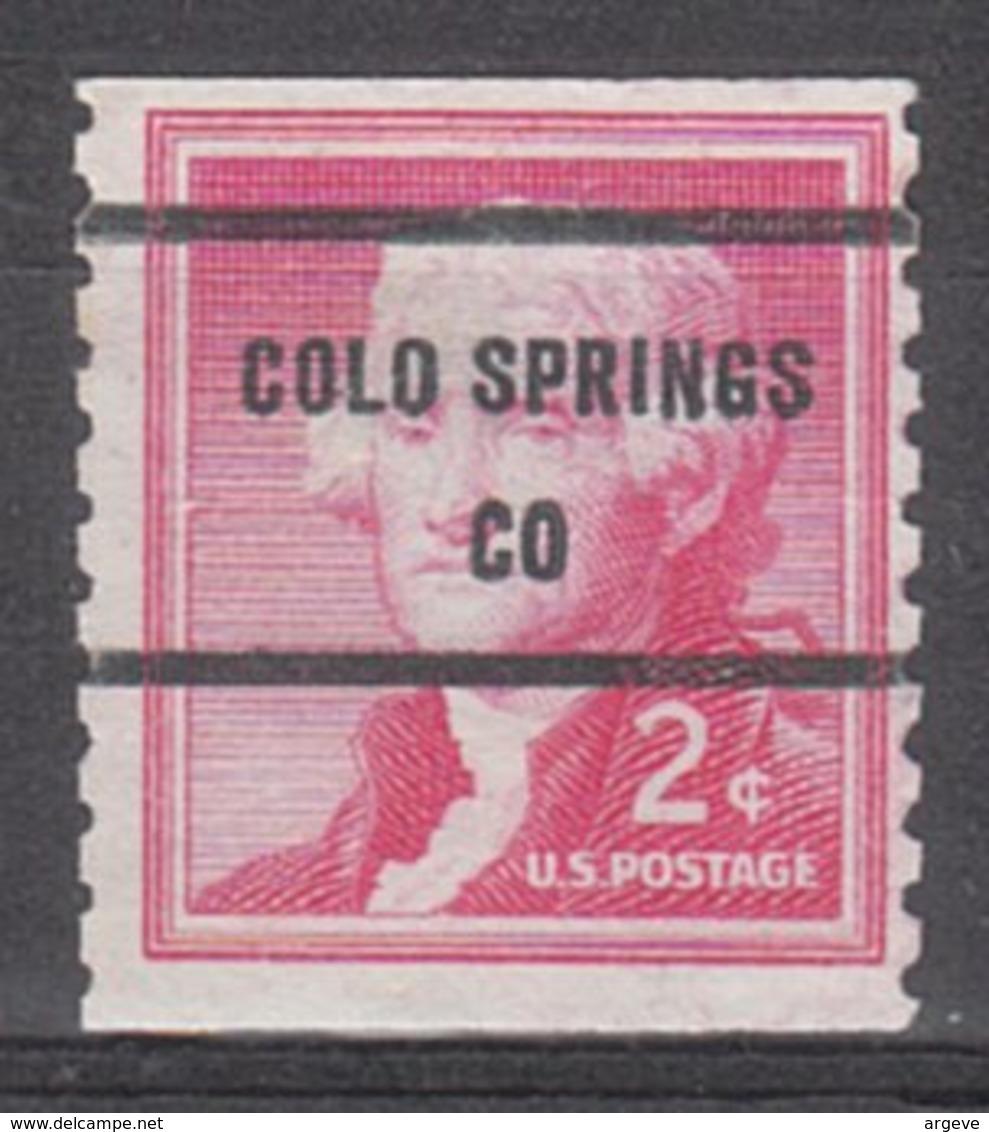 USA Precancel Vorausentwertung Preo, Bureau Colorado, Colorado Springs 1055-81 - Vereinigte Staaten