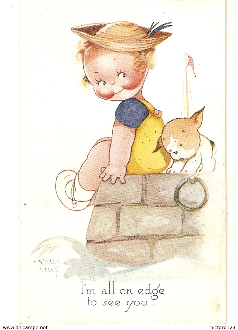 """""""Beatrice Mallet.I'm All On Edge To See You"""" Tuck Oiette Cute Kiddies Series PC # 3627 - Tuck, Raphael"""