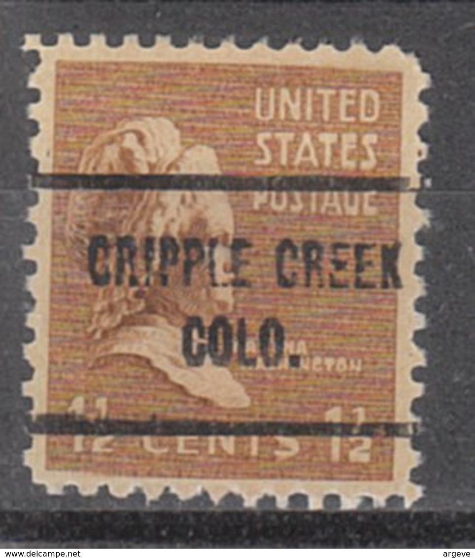 USA Precancel Vorausentwertung Preo, Locals Colorado, Cripple Creek 713 - Vereinigte Staaten