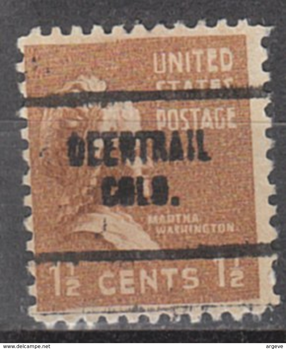 USA Precancel Vorausentwertung Preo, Locals Colorado, Deertrail 704 - Vereinigte Staaten