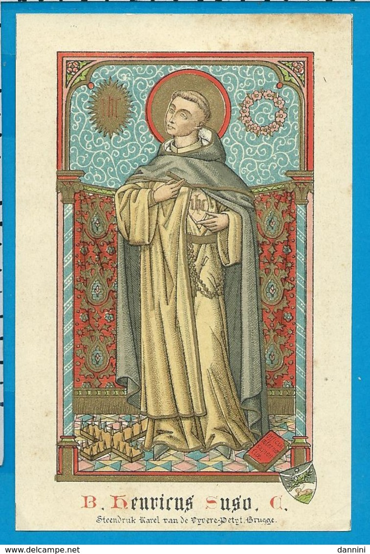 Holycard    B. Henricus Suso - Images Religieuses