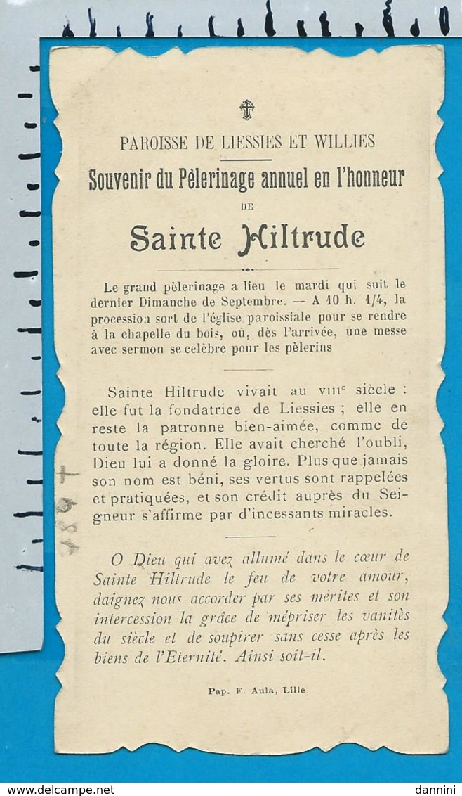 Holycard    St. Hiltrude  Lessies   Willies - Images Religieuses