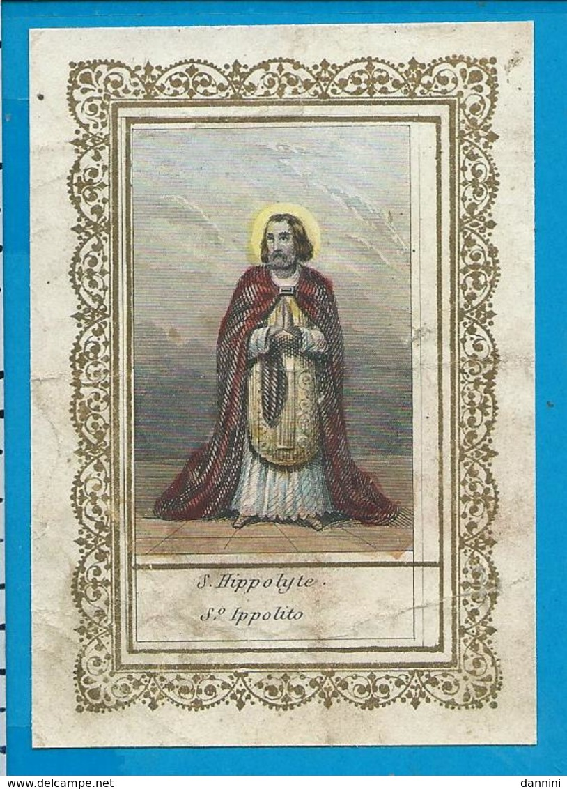 Holycard    St. Hippolyte   Handcolored - Images Religieuses