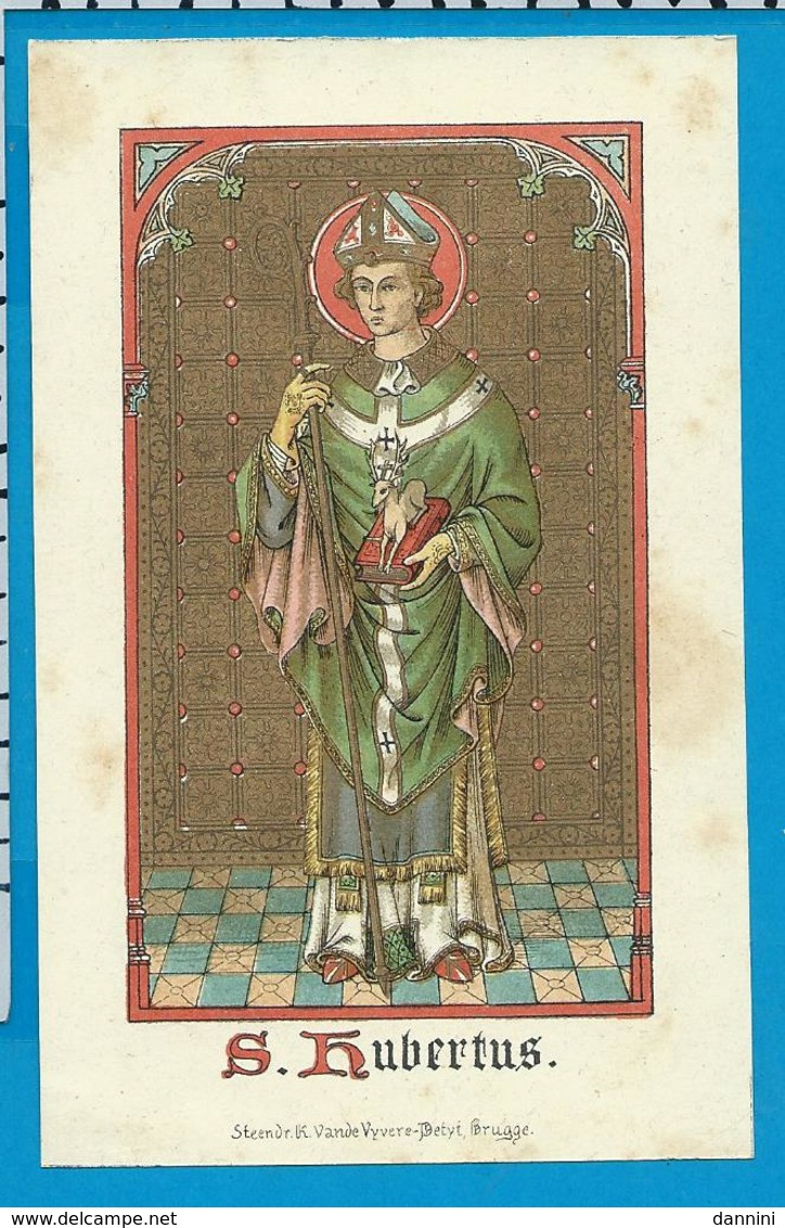 Holycard    St. Hubertus - Images Religieuses