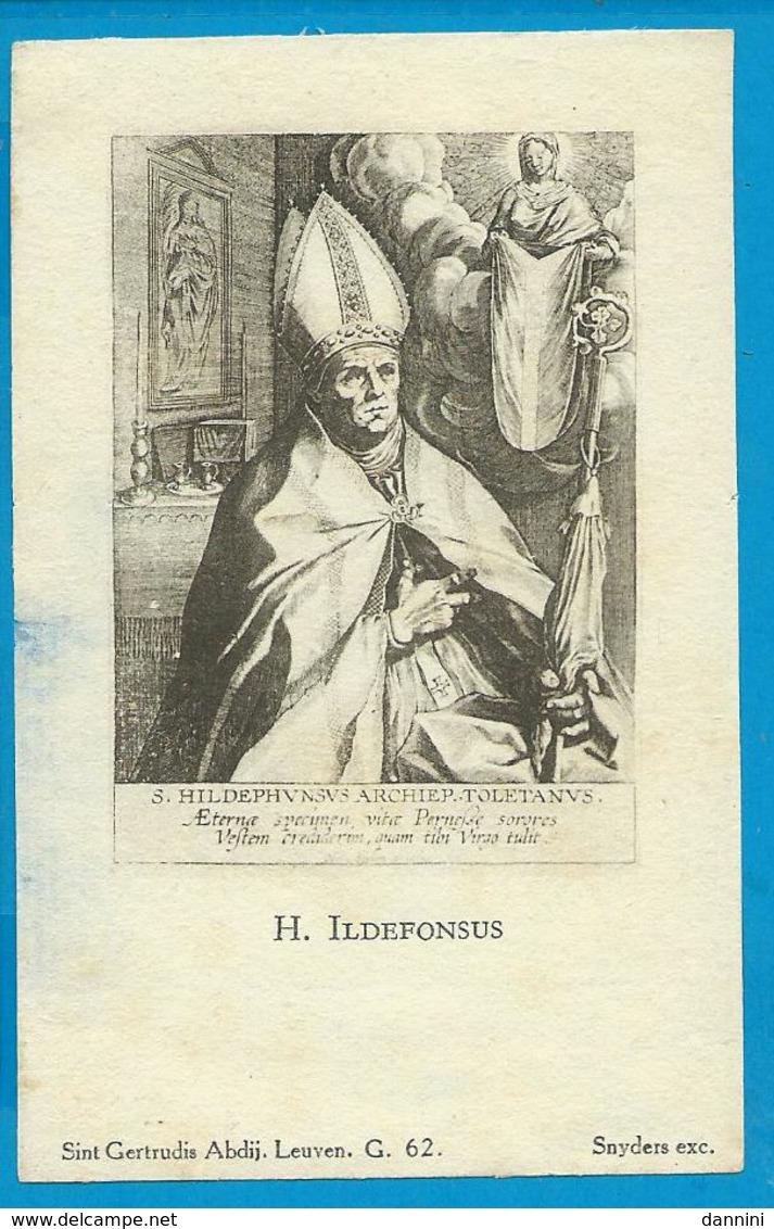 Holycard    St.  Ildefonsus - Images Religieuses