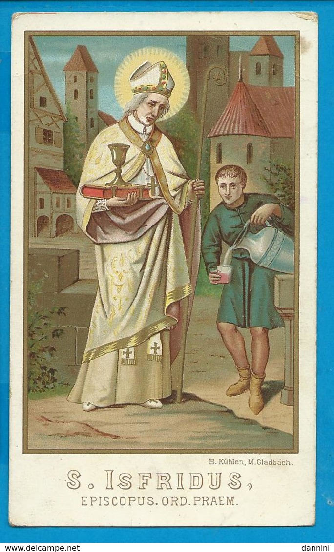 Holycard    St.  Isfridus - Images Religieuses
