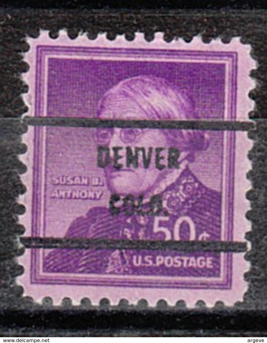 USA Precancel Vorausentwertung Preo, Bureau Colorado, Denver 1051-71 Perf. Not Perfect - Vereinigte Staaten