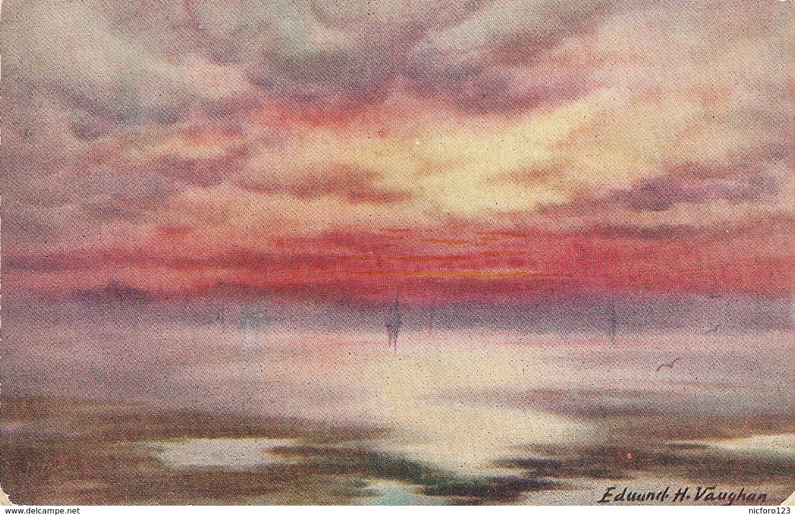 """E.H. Vaughan. Glorious Sunset"" Tuck Oilette Postcard # 3497 - Tuck, Raphael"