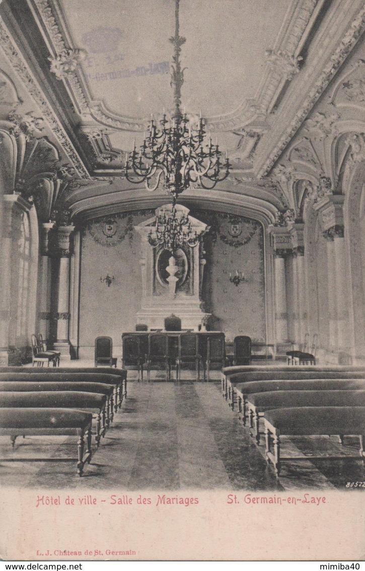 St-GERMAIN-en-LAYE - Hotel De Ville - Salle Des Mariages - - St. Germain En Laye