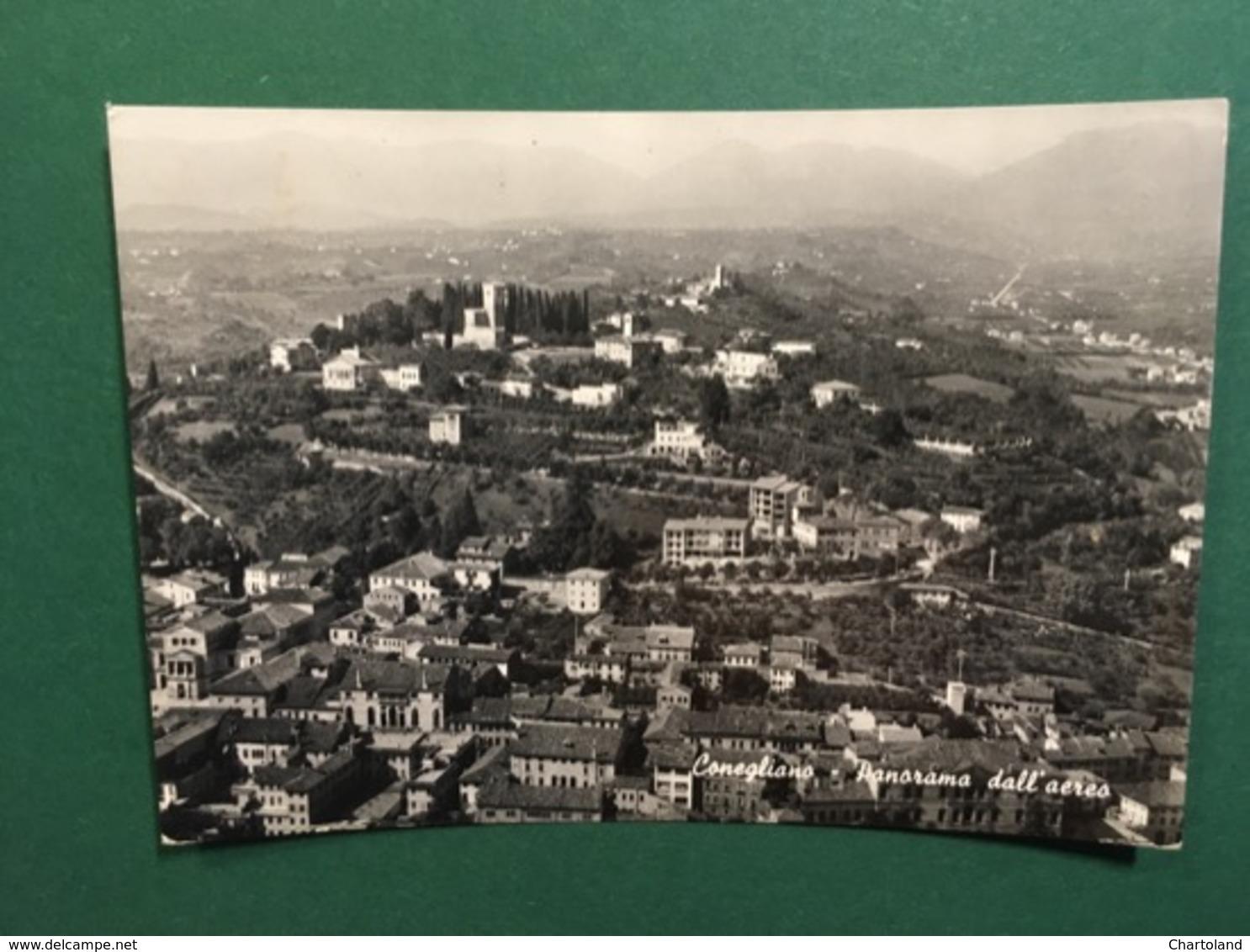 Cartolina Conegliano - Panorama Dall'aereo - 1957 - Treviso