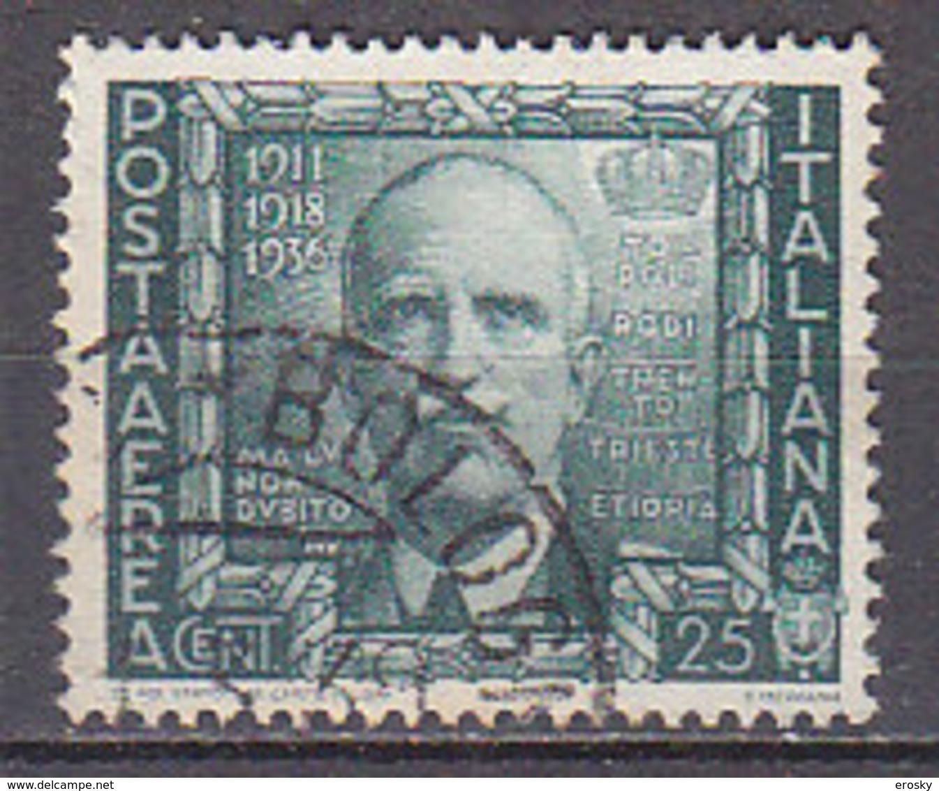 PGL - ITALIA REGNO AEREA SASSONE N°111 - 1900-44 Vittorio Emanuele III