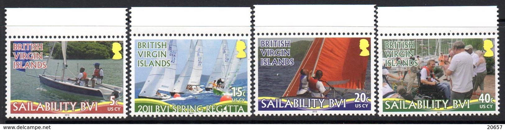 Virgin Islands Iles Vierges Britaniques 1118... Handisport, Voile, Réimpression 2012 - Handisport