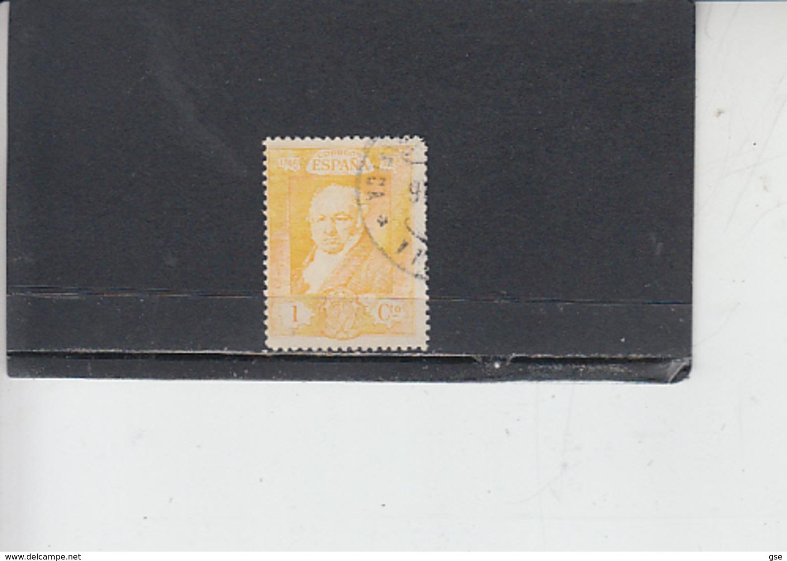 SPAGNA  1930 -  Unificato 412 - Goya - 1889-1931 Regno: Alfonso XIII