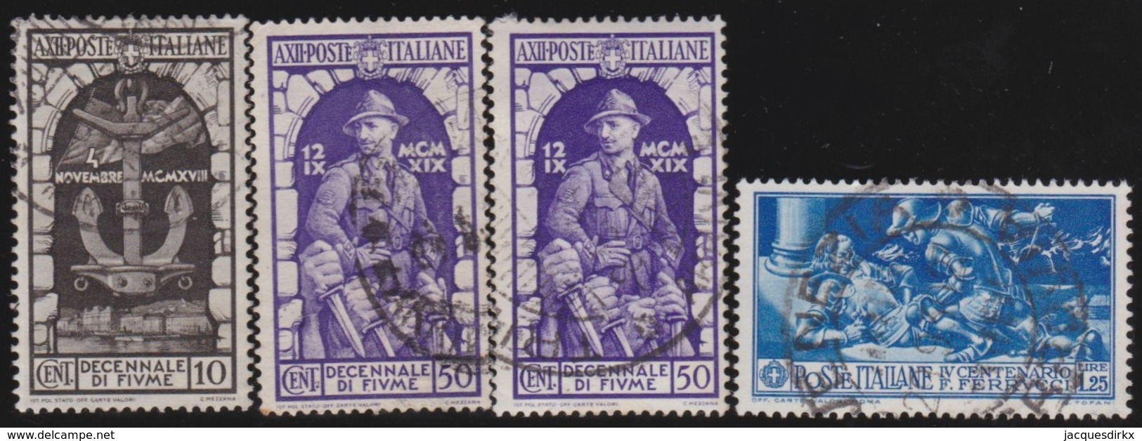 Italy      .   Yvert     .  4  Stamps       .  O     .   Cancelled  .   /    .  Oblitéré - Usati