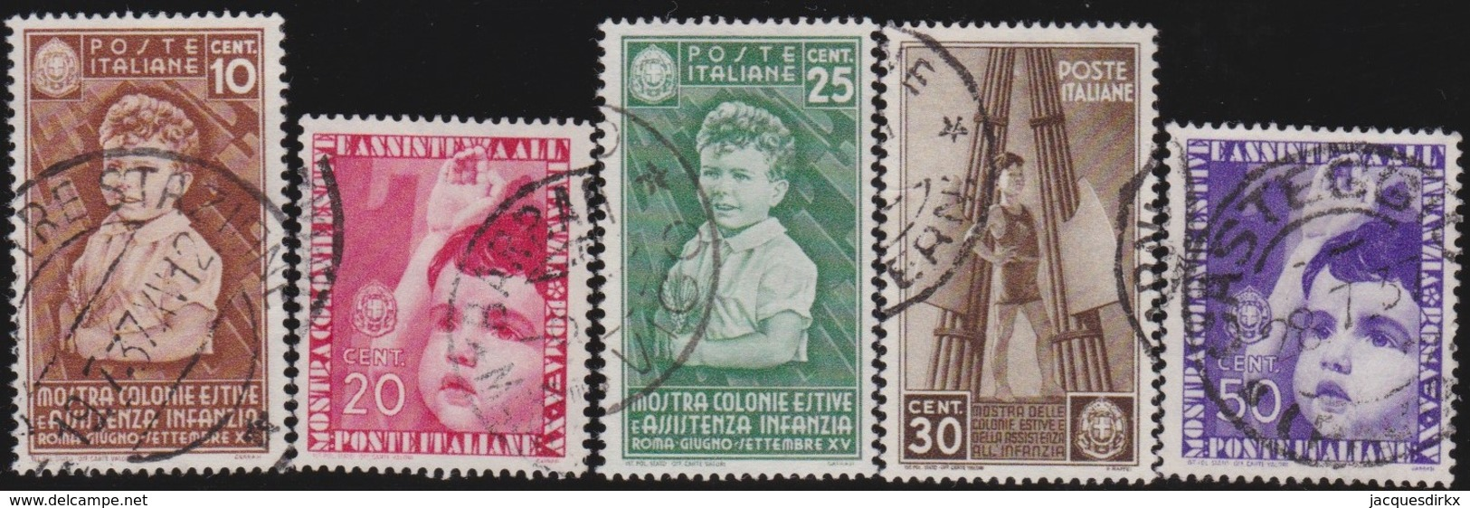Italy      .   Yvert     .  5  Stamps       .  O     .   Cancelled  .   /    .  Oblitéré - Usati