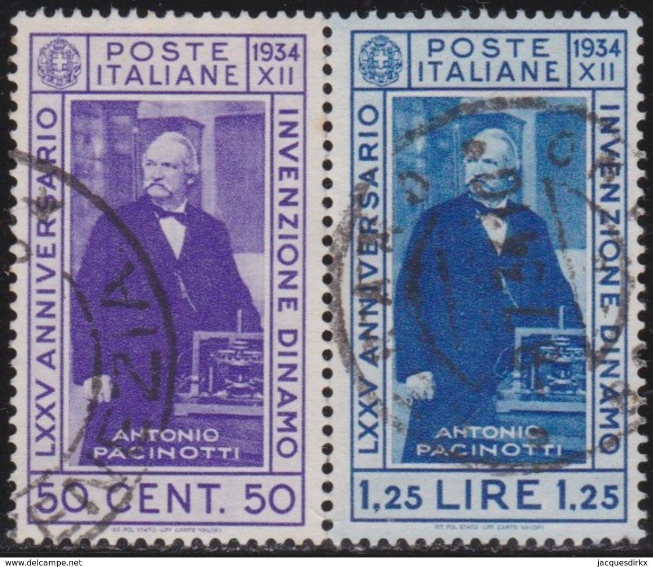 Italy      .   Yvert     .   337/338          .  O     .   Cancelled  .   /    .  Oblitéré - 1900-44 Vittorio Emanuele III