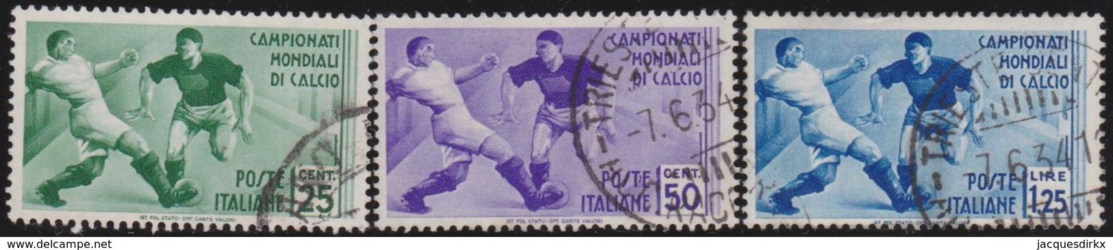 Italy      .   Yvert     .   340/342          .  O     .   Cancelled  .   /    .  Oblitéré - 1900-44 Vittorio Emanuele III
